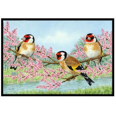 European Goldfinch Doormat Mat Size: 16 x 23