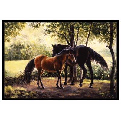Horses Doormat Rug Size: 16 x 23