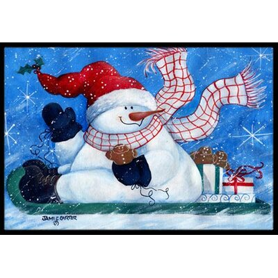 Come Ride With Me Snowman Doormat Mat Size: 16 x 23