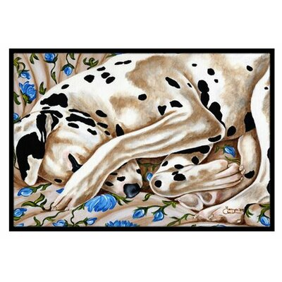 Bed of Roses Dalmatian Doormat Rug Size: 16 x 23