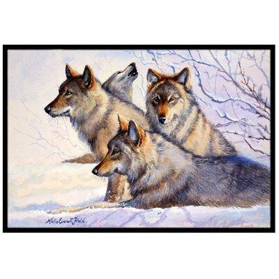 Wolves Doormat Mat Size: 2 x 3