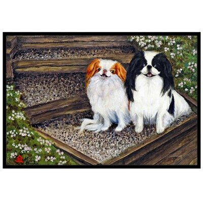 Japanese Chin Daddys Girls Doormat Mat Size: 16 x 23