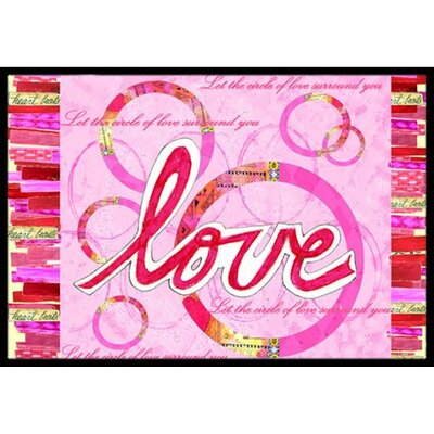 Love is a Circle Valentines Day Doormat Rug Size: 16 x 23