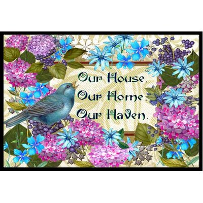 Our House Our Home Our Haven Doormat Mat Size: 16 x 23