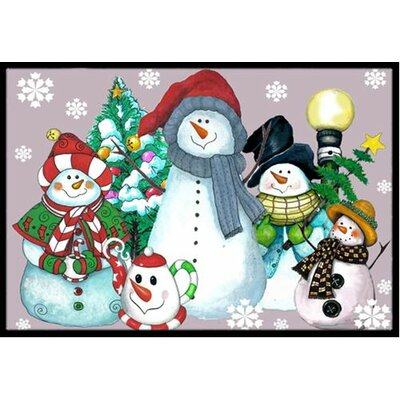 Snowman Collection For the Holidays Doormat Rug Size: 16 x 23
