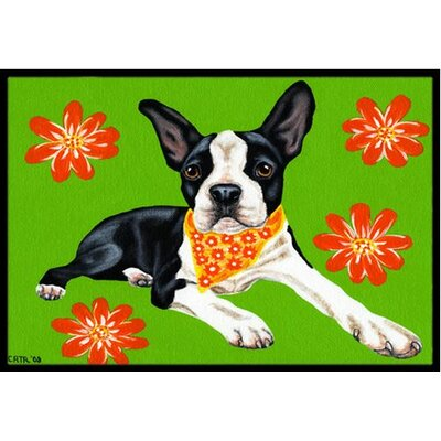 Cosmo Cutie Boston Terrier Doormat Rug Size: 2 x 3