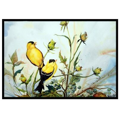 Joyful Morning Birds Doormat Rug Size: 2 x 3