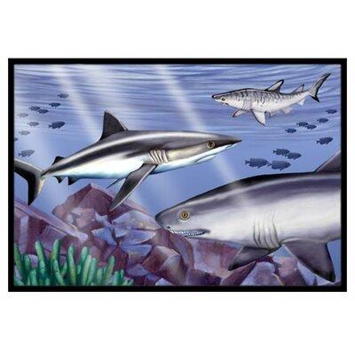 Sharks Doormat Rug Size: 2 x 3