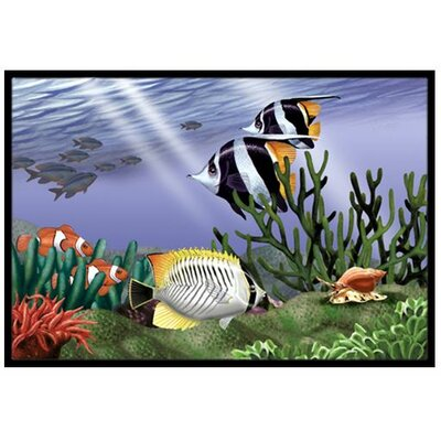 Undersea Fantasy 9 Doormat Mat Size: 2 x 3