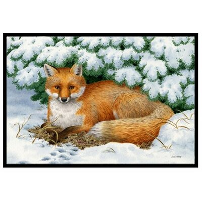 Winter Fox Doormat Rug Size: 16 x 23