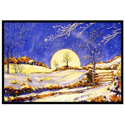 Winter Moonrise Doormat Mat Size: 2 x 3