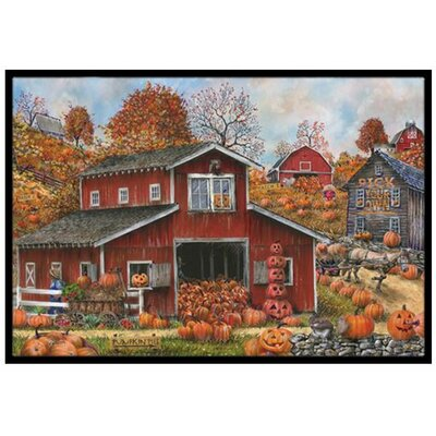 Pick your Own Pumpkins Fall Doormat Rug Size: 2 x 3