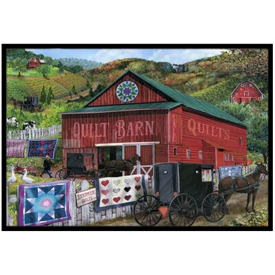 The Quilt Barn Doormat Rug Size: 2 x 3