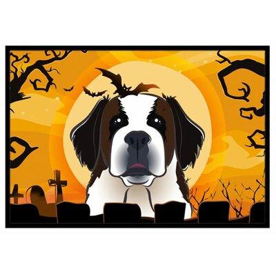 Halloween Saint Bernard Doormat Mat Size: 16 x 23