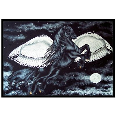 Flying Horse Doormat Mat Size: 16 x 23