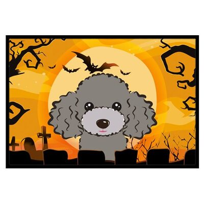 Halloween Poodle Doormat Mat Size: 2 x 3, Color: Silver Gray