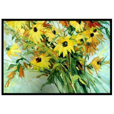 Wildflower Bouquet Flowers Doormat Rug Size: 2 x 3