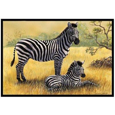 Zebras Doormat Rug Size: 2 x 3