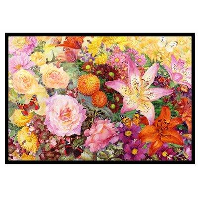Autumn Floral Doormat Rug Size: 16 x 23