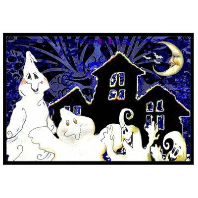 The Gangs All Here Ghosts Halloween Doormat Mat Size: 2 x 3