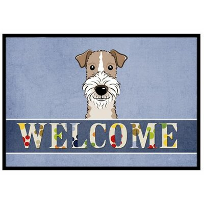 Wire Haired Fox Terrier Welcome Doormat Rug Size: 16 x 23