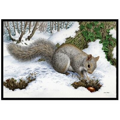Squirrel Doormat Rug Size: 16 x 23