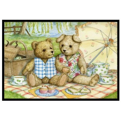 Summertime Teddy Bears Picnic Doormat Rug Size: 2' x 3'