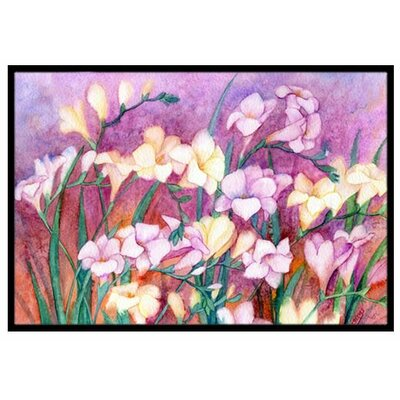Freesias Doormat Rug Size: 2 x 3