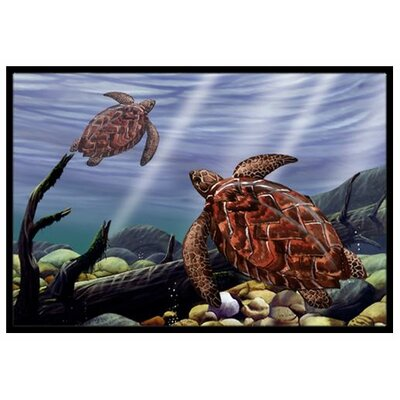 Sea Turtles Doormat Rug Size: 16 x 23
