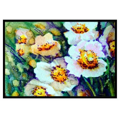 Raindrops on Poppies Doormat Rug Size: 16 x 23