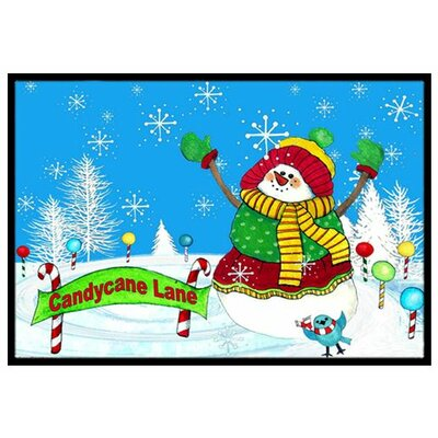 Candy Cane Lane Snowman Doormat Rug Size: 16 x 23