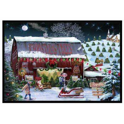 Christmas Tree Farm Doormat Mat Size: 2 x 3