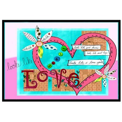 Looks Like I Love You Valentines Day Doormat Rug Size: 16 x 23