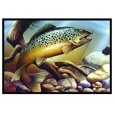 Brook Trout Doormat Rug Size: 2 x 3