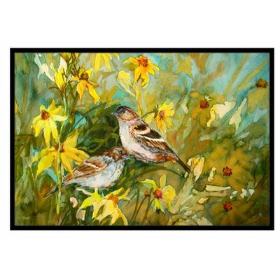 Sparrows in the Field Doormat Mat Size: 16 x 23