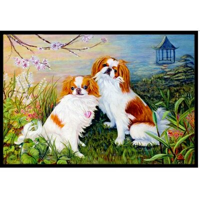 Japanese Chin Wasabi and Ginger Doormat Rug Size: 2 x 3
