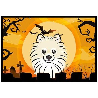 Halloween Pomeranian Doormat Mat Size: 2 x 3