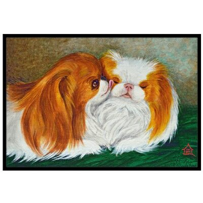 Japanese Chin Best Friends Doormat Rug Size: 2 x 3
