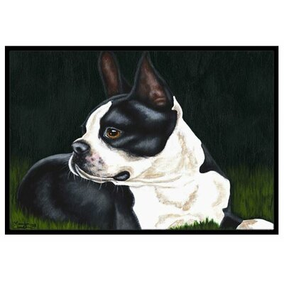 Boston Terrier Beauty Doormat Rug Size: 2 x 3