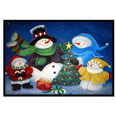 The Family Gathering Snowman Doormat Rug Size: 16 x 23