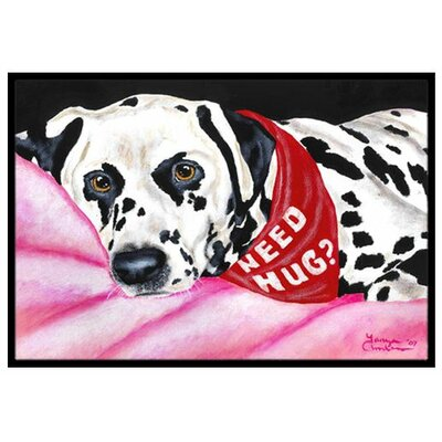 Need a Hug Dalmatian Doormat Rug Size: 16 x 23