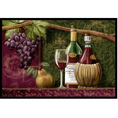 Wine Chateau Roma Doormat Mat Size: 2 x 3