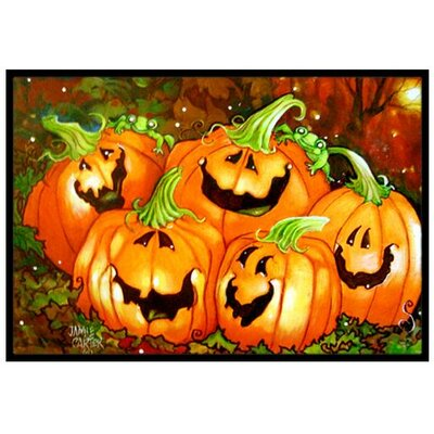Such a Glowing Personality Pumpkin Halloween Doormat Rug Size: 2 x 3