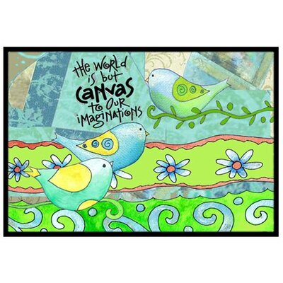 The World is but a Canvas to our Imagination Doormat Mat Size: 2 x 3