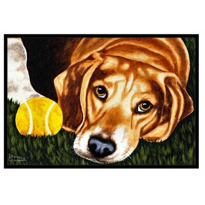Have Ball Will Travel Beagle Doormat Mat Size: 2 x 3