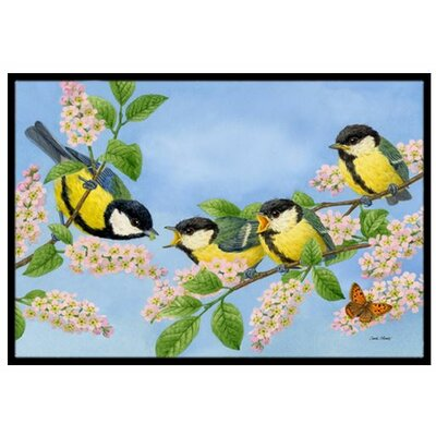 Great Tit Family of Birds Doormat Rug Size: 2' x 3'