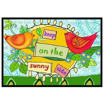 Keep on the Sunny Side Doormat Rug Size: 16 x 23