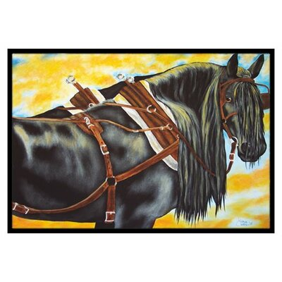 Days End Horse Doormat Mat Size: 2 x 3