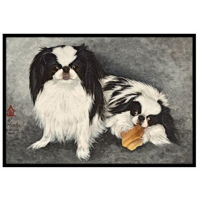 Japanese Chin Impress Doormat Rug Size: 2 x 3