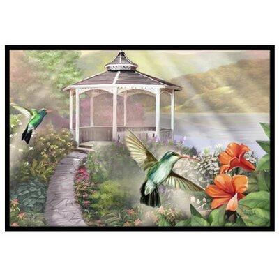 Garden Gazebo Hummingbird Duo Doormat Rug Size: 2 x 3